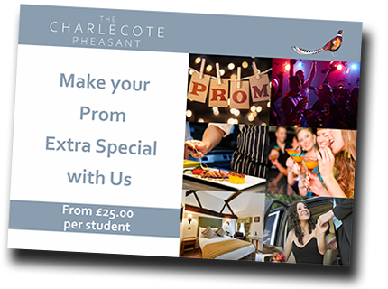 Prom Venues in Stratford upon Avon Package at the Charlecote Pheasant Hotel