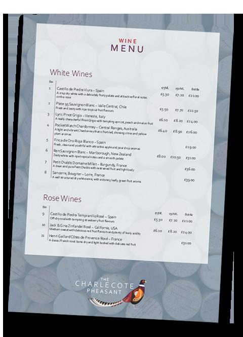 The Charlecote Pheasant Hotel Wine Menu-1