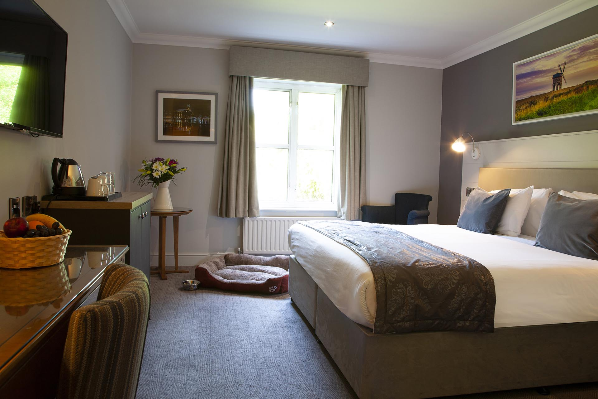 Barford Exec Double room 37 red Dog friendly Bed