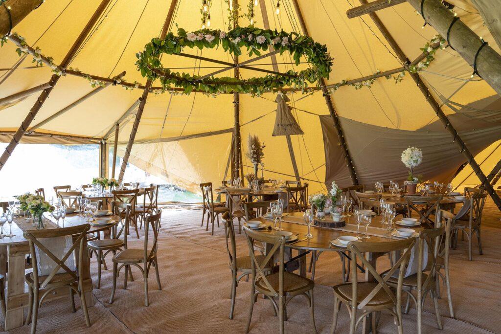Luxurious giant tipis at the Charlecote Pheasant Hotel Stratford-upon-Avon